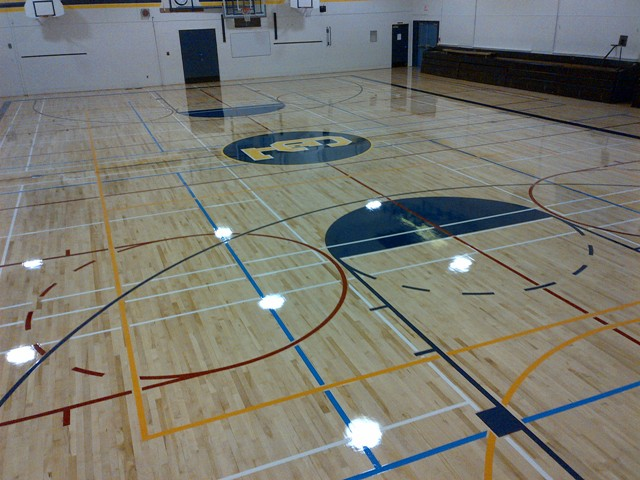 Standard basketball court size all basketball scores info for Basketball gym dimensions