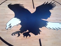eagles logo hand painted by ken moersch 2014 vancouver