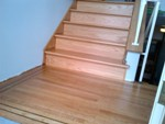 replacement treads in red oak for residential fir stairs upgrade