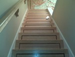 craftsmen special walnut and select red oak pre made stairs solution to high visiblity