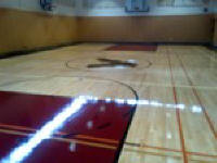 vancouver gymnasium hardwood floor refinishing with Ken Moersch AHF-All hardwood floor ltd